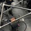 MTB クロモリフレーム製作 ③ 溶接部のやすり。