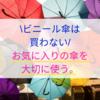 【ビニール傘は買わない】お気に入りの傘を大切に使う。
