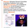 リオオリンピックで政府を抗議した元エチオピア選手が母国で帰国を懇願される