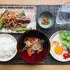 豚バラと茄子とししとうの甘辛炒めと根菜の煮物【晩御飯献立】