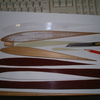 RC全翼機 翼型テンプレートの材質