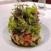 殿堂入りのお皿たち その428【ラ・マティエール の 海の幸のタルタルサラダ、アンチョビ風味】