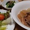 豚バラ大根白菜入り/稲荷寿司と豚汁