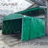 【可動式(キャスター)テント】ジャバラ構造に車輪付き?便利なポイント
