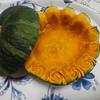 バラの縁取りかぼちゃの皿