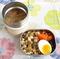 具沢山のカレースープ付き!福岡の高菜漬けで「節約弁当」