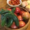 夏野菜と白桃