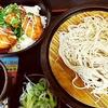 ゆで太郎(信越食品)@大井町店(鶏唐ネギマヨ丼セット(冷))