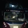 深夜バスにてバンコクに向かう