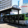 電車のの行き交う赤羽駅