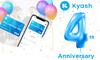 Kyashは創業4周年を迎えました!
