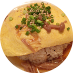 ふんわり卵のオムライス、他とは違う和風な味付け。@渋谷