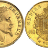 フランス1869年ナポレオン3世100フラン金貨NGC MS64