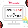 ワイモバイルでバスケットLIVE!AmazonのfireTV専用アプリでテレビ視聴可能に。設定も簡単!