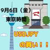 【9/6 東京時間】リスクオン!!ドル円は買い!!