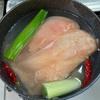 小松菜の煮浸しと塩鶏。