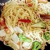 お弁当スパゲッティ / エリンギとウィンナーとツナ、ブロッコリーのスパゲッティ