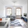繊細な空間デザインが目立つスタイリッシュなドイツの小型マンションのインテリア屋内デザイン