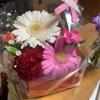 新型フィットの、納車で頂いた、お花。