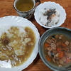 魚とマッシュルームのカレーと魚の煮込み