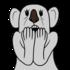 驚いたコアラ のイラスト