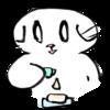 化粧水をコットンに垂らす猫の無料イラスト