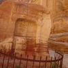 世界遺産ペトラ遺跡内にいる「ナバタイの神様」。(ペトラ・ヨルダン