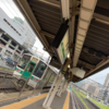 新幹線が在来線ホームから 奥羽本線・山形線