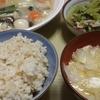 台風に備えて、早めに晩御飯を作りました。