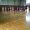 今日も体育館で午前中練習❗