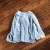 小花柄のプルオーバーブラウス作りました~使用パターン「男の子にも女の子にも作ってあげたい服」