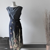 バリバティックで巻きスカート。 お花:露草