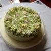 お花畑のようなケーキ
