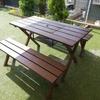 自宅の庭にガーデンテーブルを設置!キットで簡単DIY!