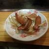 チョリソーと玉ねぎの炒め物!