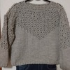 気軽に選んだら超難易度高し! 透かし模様のセーター完成