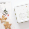 ツリーと街並みのイラストがかわいい、ロミユニのノエルクッキー缶【2019 クリスマス】
