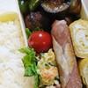 肉団子と茄子とピーマンの甘辛炒め弁当