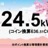 5/23の発電量は24.5kWh