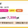 【ハピタス】NTTグループカードが期間限定7,350pt(7,350円)にアップ! さらに最大10,000円のキャッシュバックも!