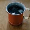 銅マグでアイスコーヒー