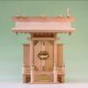 大きくも小さくもない神棚一社神殿 尾州桧版だから全体的に綺麗な素材