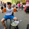暑いぞ天津 近所の自家製白ビール