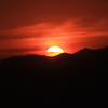 海と山そして沈む夕日