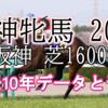 【阪神牝馬 2020】過去10年データと予想