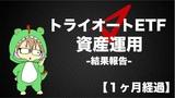 【一か月経過】トライオートETFで自動売買 資産運用_損益-21000円