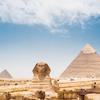 エジプト ピラミッドで地に足ついてない系フォト