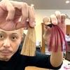カラーバターのチェリーピンクで茶髪に染めた仕上がり(ブリーチなしの茶髪)