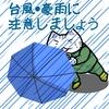 台風が近づくと頭痛がするんです。