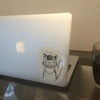 Macに貼るようのオリジナルシールを作った。